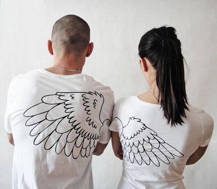 """Парные футболки """"Крылья"""""""
