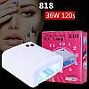 УФ Лампа для ногтей Global Kodi 36Вт таймер 120сек, фото 2