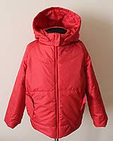 Детская куртка для девочек красного цвета демисезонная, фото 1