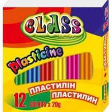 Пластилін Class 12 кольорів, 240 грам, 7624