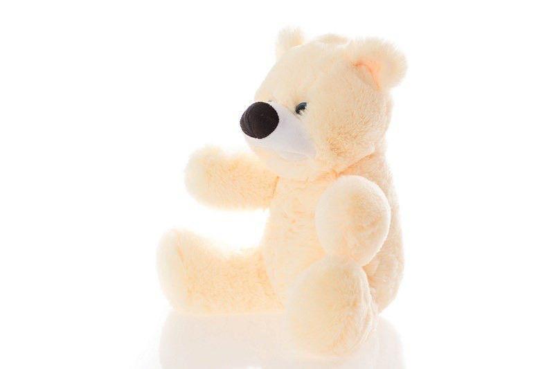 Плюшевый медведь Бублик 45 см персиковый