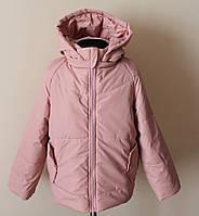Куртка для девочки цвета пудры демисезонная, фото 1