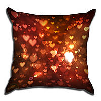 Декоративная подушка Блеск сердечек 40х40см