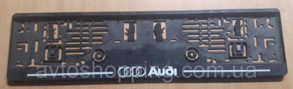 Рамка под номер с надписью Audi (Ауди), Рамка Черная