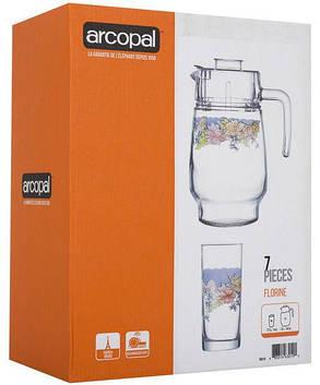 Кувшин со стаканами в подарочной упаковке Florine Arcopal 7пр (N3215), фото 2