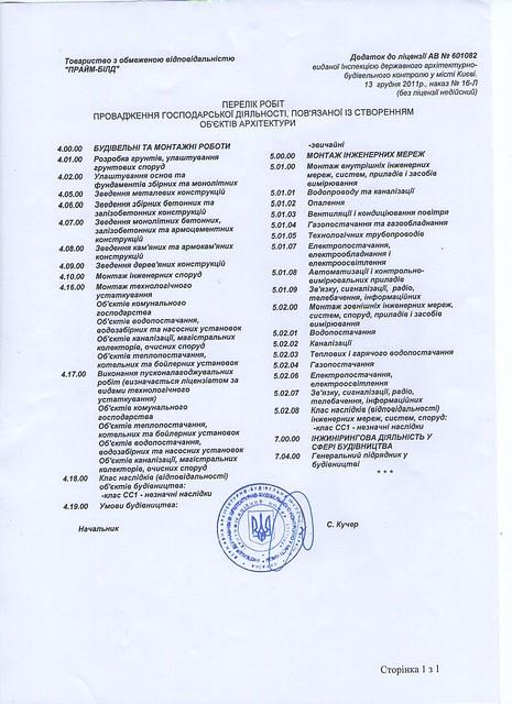 """ТОВ """"Прайм-Білд"""" продам действующую строительную компанию №1"""