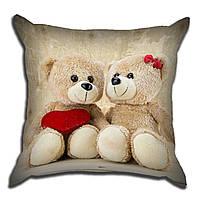 Декоративная подушка Влюбленные мишки 40х40см