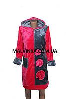 Махровый женский халат р XL Турция малиновый.