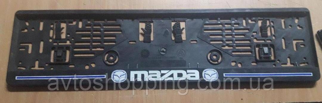 Рамка под номер с надписью Mazda, Рамка Черная