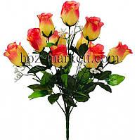 Букет Розы в бутоне с кашкой 52см (№310)