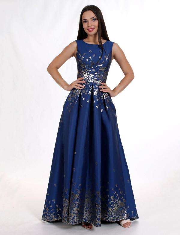 041ded2d0d8 Нежное нарядное платье в пол из атласного жаккарда - Модный магазин в Киевской  области