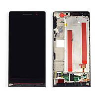 Дисплей с сенсорным экраном Huawei P6-U06 ASCEND черный с рамкой