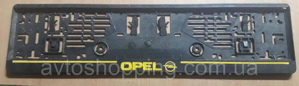 Рамка под номер с надписью Opel (Опель), Рамка Черная