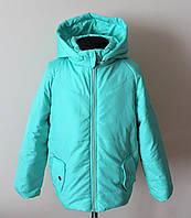 Куртка на девочку бирюзового цвета детская деми, фото 1