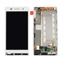 Дисплей з сенсорним екраном Huawei P6-U06 ASCEND з рамкою білий