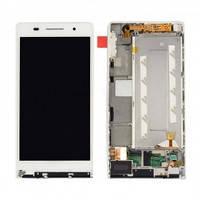 Дисплей с сенсорным экраном Huawei P6-U06 ASCEND белый с рамкой