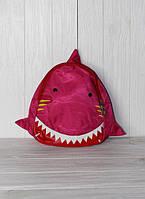 """Детский рюкзачок в садик """"акула"""", розовый"""