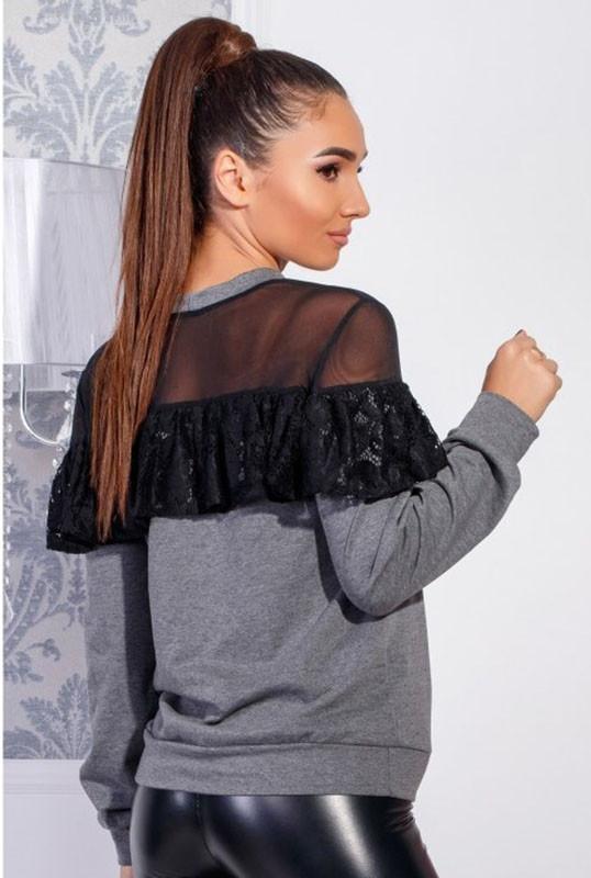 Блузки сіточкою -ЛЕТИЦІЯ - сірий