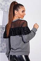 Блузки сеточкой -ЛЕТИЦИЯ- серый