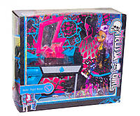 """Мебель с Куклой Монстер Хай  (Monster High) """"Школа монстер хай"""", шарнирная фиолетовые волосы, трюмо,  MH8910G"""