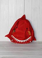 """Детский рюкзачок в детсад""""акула"""", красный"""