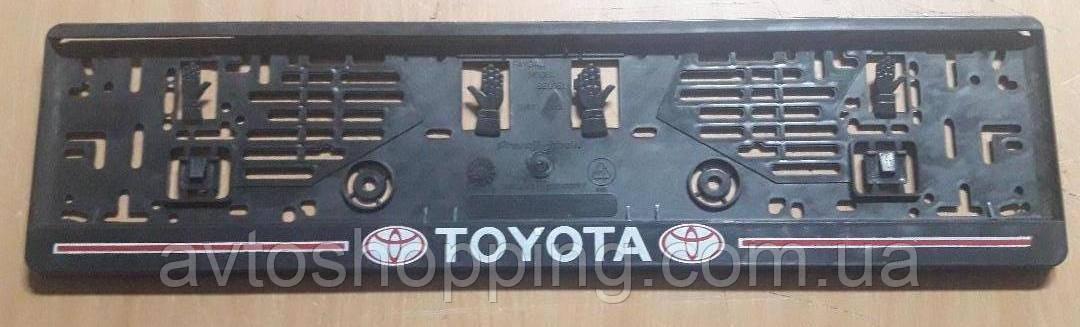 Рамка под номер с надписью Toyota, Рамка Черная