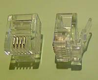 Коннектор телефонный для линии RJ-14 (6Р4С)