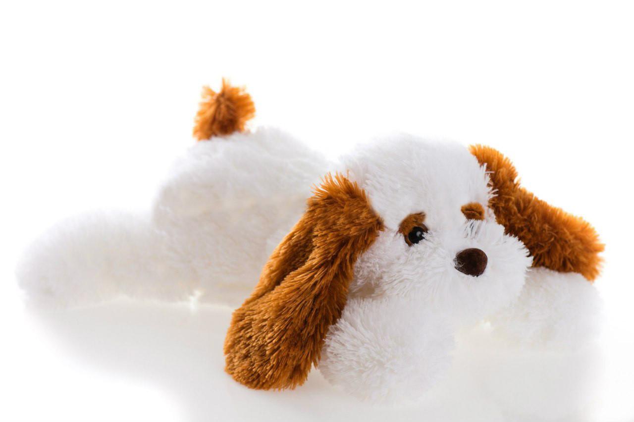 Плюшевая Собака Алина Тузик 65 см белый