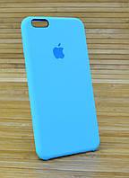 Силиконовый чехол на Айфон 6+ \ 6 Plus ORIGINAL ELITE COPY голубой