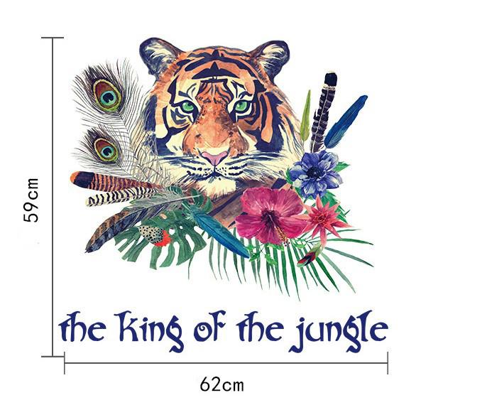 Інтер'єрна наклейка на стіну Бохо Тигр SK7056