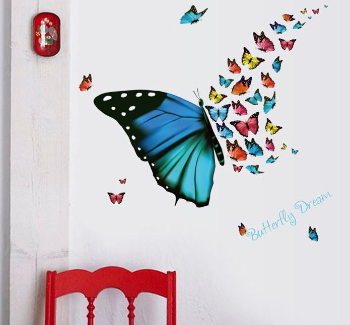 Интерьерная наклейка на стену Бабочка SK36001