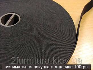 Резинка (Китай) черная 25м (ЧЕРНЫЙ, 20 мм)