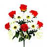 Букет Розы в бутоне с Герберой 46см (№166)