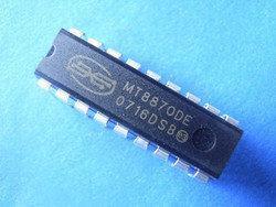 Мікросхема MT8870 MT8870DE декодер DIP18