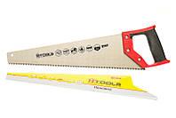 Ножовка по дереву с каленым зубом 450 мм, 55 HRC, 5 TPI Htools 10K146