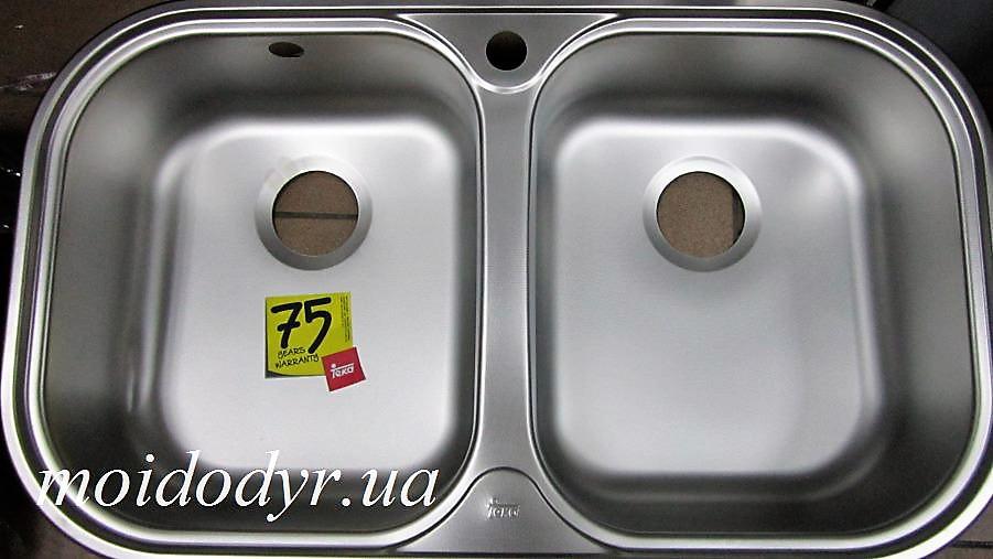 Мойка кухонная врезная из нержавеющей сталиTEKA STYLO 2B микродекор (дефект)
