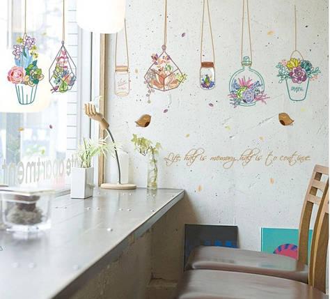 Інтер'єрна наклейка на стіну Квіти SK7057, фото 2