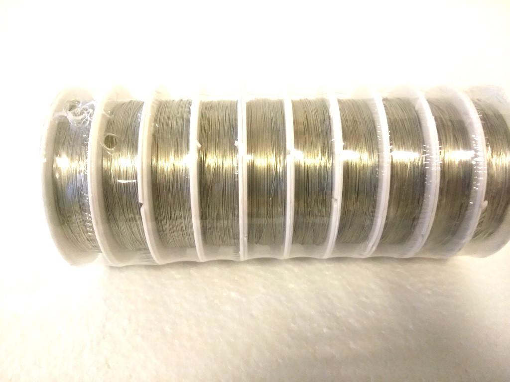 Декоративная проволока 10 шт. 0,3 мм Серебро флористическая - Grand Studio Group в Киеве