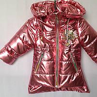 """Куртка детская демисезонная """"Popular"""" для девочек. 1-5 лет (86-110 см). Коралловая. Оптом., фото 1"""
