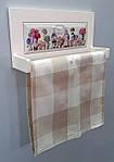 Полочка с держателем для бумажных полотенец Прованс декорированная плиткой для сублимации, фото 4