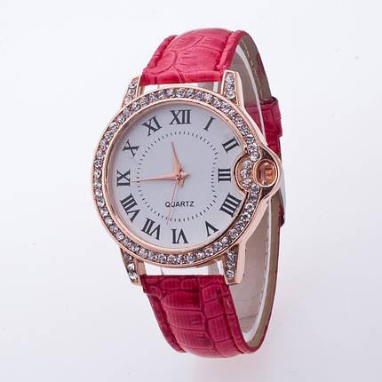 Часы женские Geneva Питон Стразы 100-3 коралловые, фото 2
