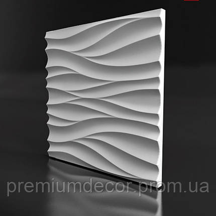 Гипсовые 3Д/3D панели ПОТОК, фото 2