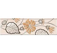 Керамическая плитка Карат бежевая фриз 20х6 см