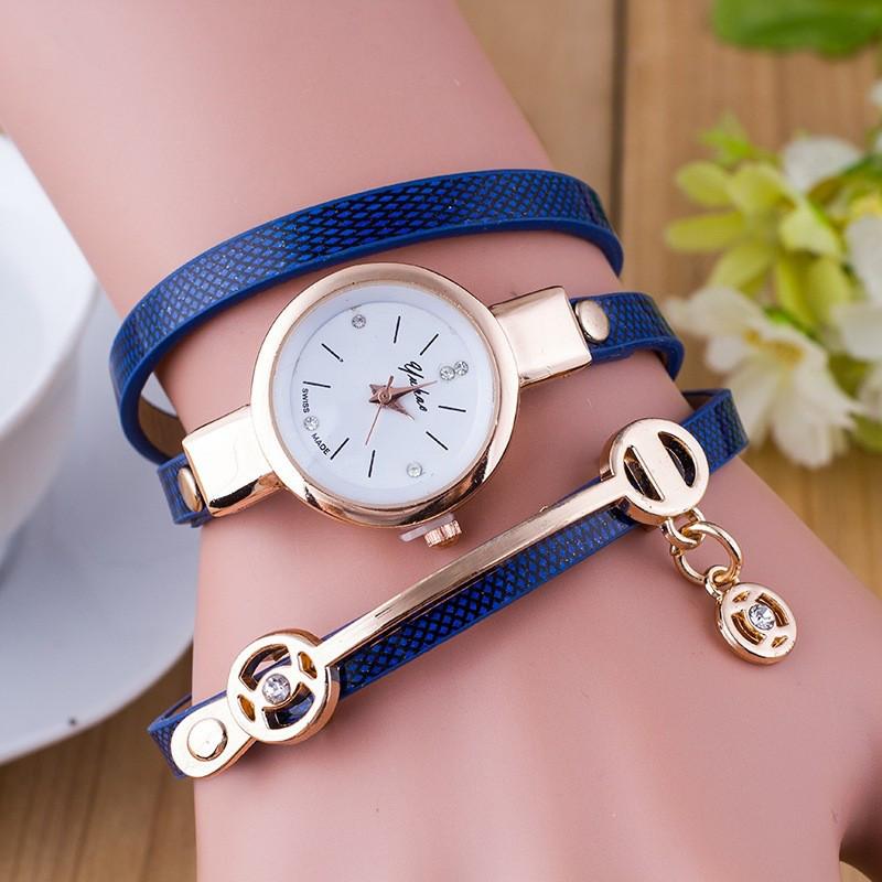 Годинник-браслет довгі, наматывающиеся на руку 102-3 сині