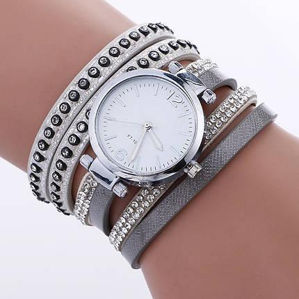 Часы-браслет длинные, наматывающиеся на руку Серые 112-1, фото 2