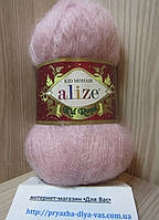 Мохеровая пряжа (62%- кид мохер, 38%- полиамид, 50 г/ 500 м) Alize Kid Royal 161