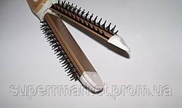 Плойка-утюжок-гофре с расческой для волос Nova NHC-8890 3в1, бежевый, фото 3