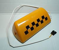 Шашка магнитная Такси с подсветкой оранжевая