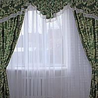 """Комплект ламбрекен  со шторами  из ткани """"Блэкаут"""" Код 089лш127 (А)"""