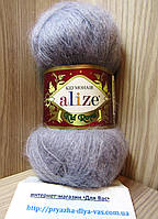 Мохеровая пряжа (62%- кид мохер, 38%- полиамид, 50 г/ 500 м) Alize Kid Royal 52